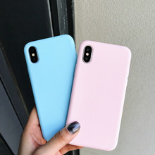 hot deal buy matte case for iphone 7 8 x cases for iphone 6 6s 7 8 plus 5 5s soft silicone candy color back cover for iphone xr xs max funda