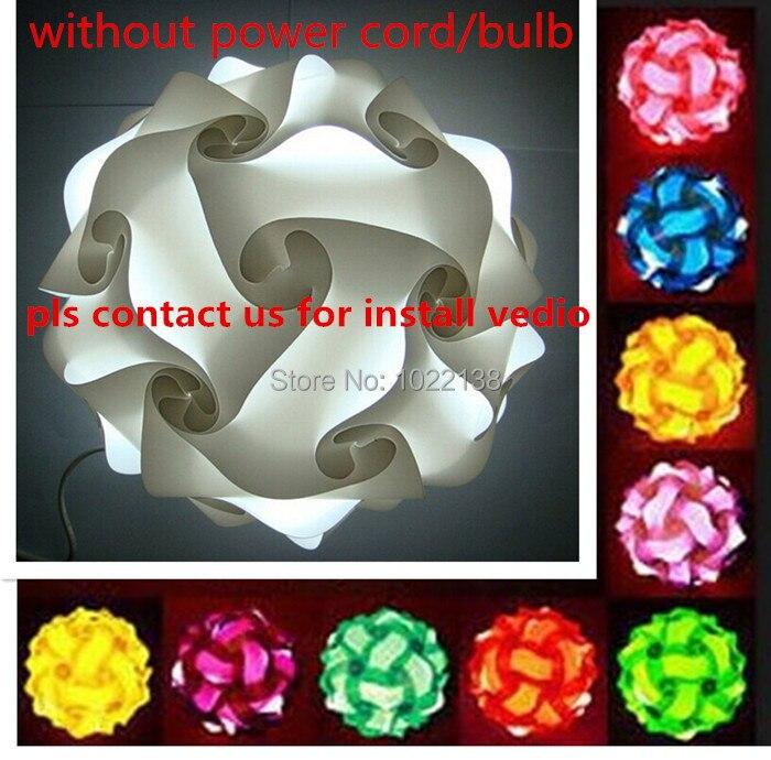 DIY Moderne Pendentif Boule roman IQ lampe de puzzle pendentifs coloré pendentif lumières LED DIY réglable lustre plafond lampe