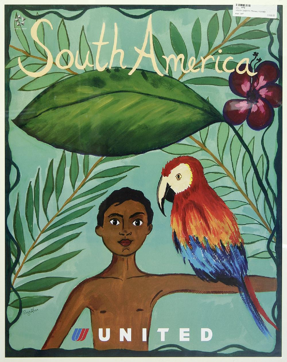 Buy south america map vintage pop travel for Buy art posters online