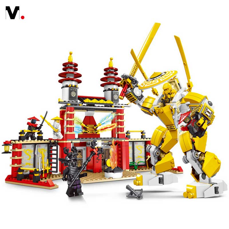 2016 New 609Pcs Phantom Ninja Building Blocks Compatible With legoe Ninja Minifigures Toys Brick Boys Birthday