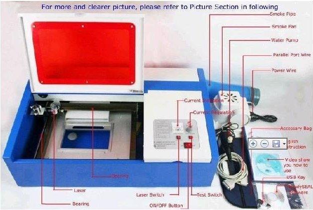 Laser engraving machine 3020/CO2 Laser engraver / laser cutting machine/ laser cutter/40W/110V