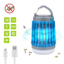 3 in 1 USB Rechargeable LED Mosquito Killer Lamp 360-400NM UV Mosquito Insect Zapper Light Tent Lantern Bedroom, Garden,Camping(China)