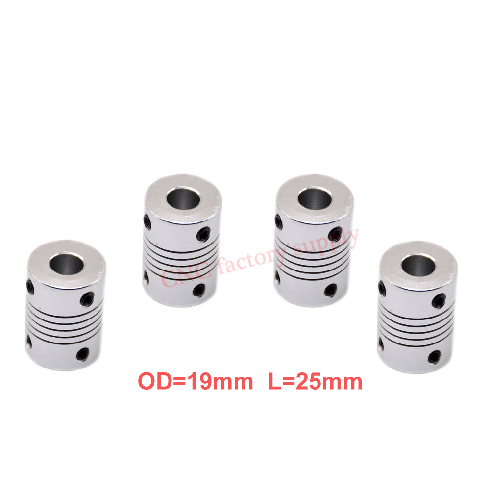 Hot 4pcs/lot D19L25 5x8mm CNC Motor Jaw Shaft Coupler Flexible Coupling OD19x25mm wholesale Dropshipping 3/4/5/6/6.35/7/8/10mm 10pcs lot pc817 4 dip 16 optical coupler oc optocoupler