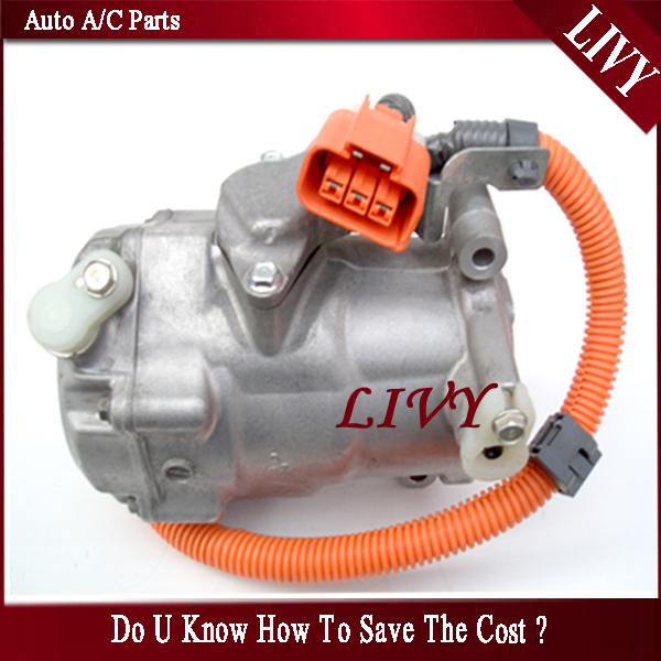 US $385 0  Electric ac compressor for Toyota Prius Hybrid 1 5 88370 47010  042000 0193 042000 0194-in Air-conditioning Installation from Automobiles &