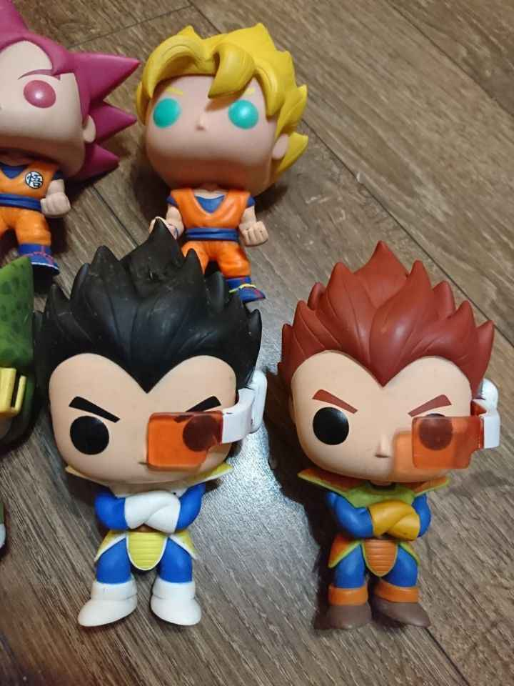 Original Funko pop Amina: dragon Ball Z Super Saiyan Goku Vegeta Red Vinyl Action Figure Collectible Modelo Toy Solto Sem Caixa