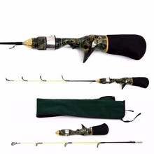 Supper light lure casting rod Two Section Camouflage gun composite fiber material type ice raft fishing rod soft Tonality