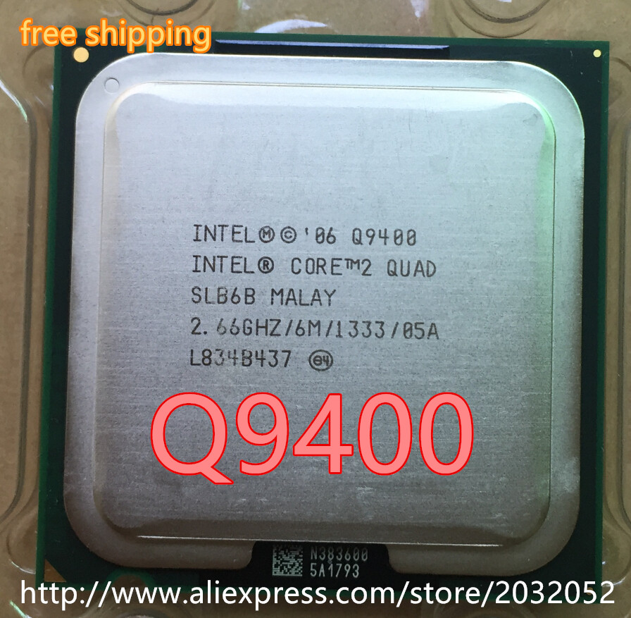 Процессор Intel Original Core 2 Quad q9400 q9400 Процессор процессор (2.66 ГГц/6 м/1333 ГГц) socket 775 Настольный Процессор