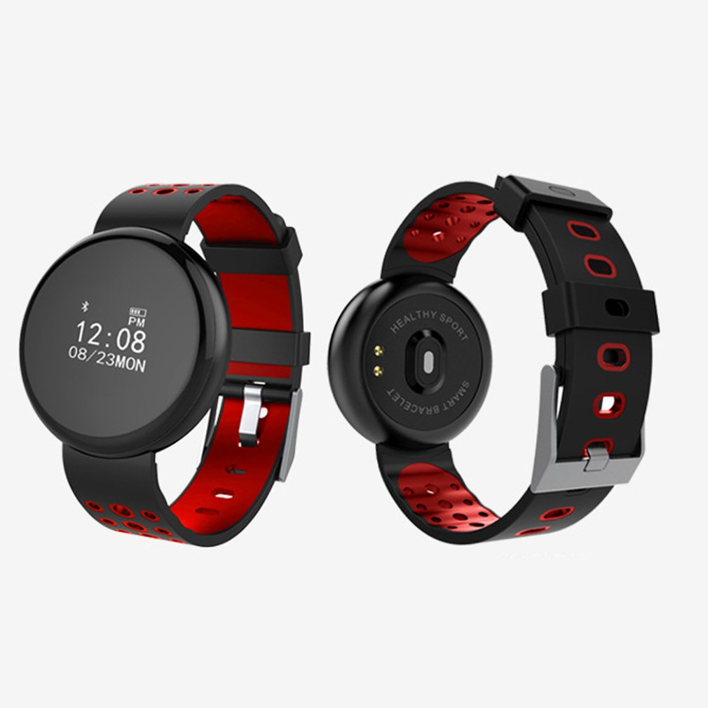 Round Screen Bluetooth Smart Band Heart Rate Monitor Waterproof Watch Sleep Monitor Pedometer Sport Bracelet