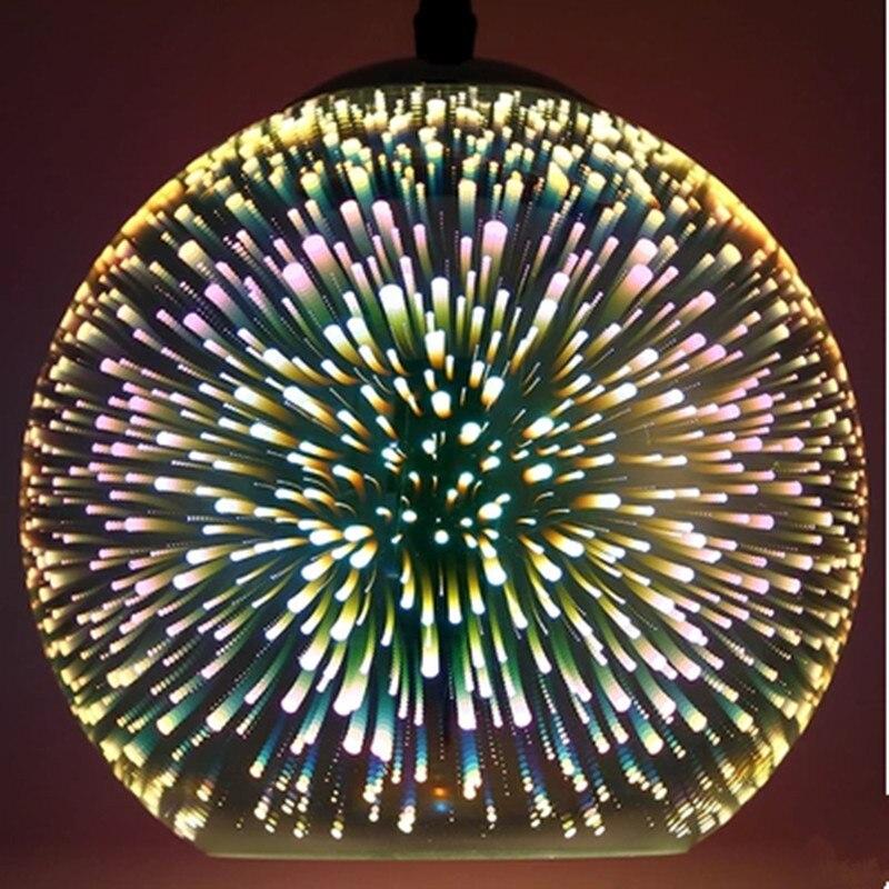Boule De verre Pendentif Lampe Meteor 3D Cierges Magiques Feux D'artifice Coloré Pendentif Lumière 15/20/25/30 cm Droplight pour Café Restaurant Bar - 3