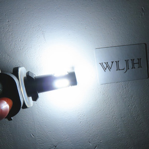 Image 5 - WLJH 2x Beyaz Canbus H27 881 LED Ampul Araba Işık H27W Sis Lambası Led lamba ampulü Gündüz Çalışan Işık DC12V 24V için hyundai Kia