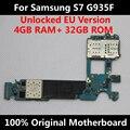 Versão da ue para samsung galaxy s7 g935f motherboard mainboard original desbloqueado com chips imei bom sistema operacional placa lógica de trabalho