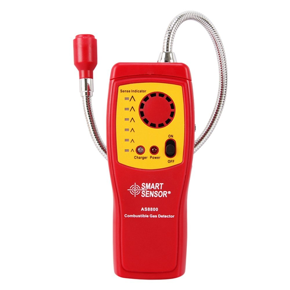Combustible Natural Gas Detector Carbon Monoxide Methane Alcohol Portable Gas Leak Detector Tester with Sound Light Alarm