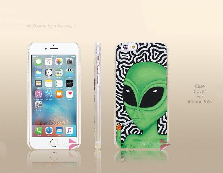 Painted Alien Art Hard Transparent Clear Case Cover for apple iphone 4 4s 5 5s 5c se 6 6s plus