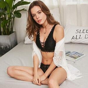 Image 3 - 2019 Phụ Nữ Sexy Ren Áo Ngực Đặt Thời Trang Thiết Kế Mới Trong Suốt Thân Mật Đồ Lót Bralette Đồ Lót Panty Set Dây Miễn Phí Áo Ngực Tập