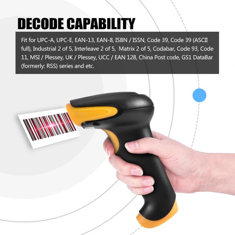 Сканер штрих-кода with1D проводной Портативный Ручной штрих-код читателя 200 м/с с подставкой с высокого качества