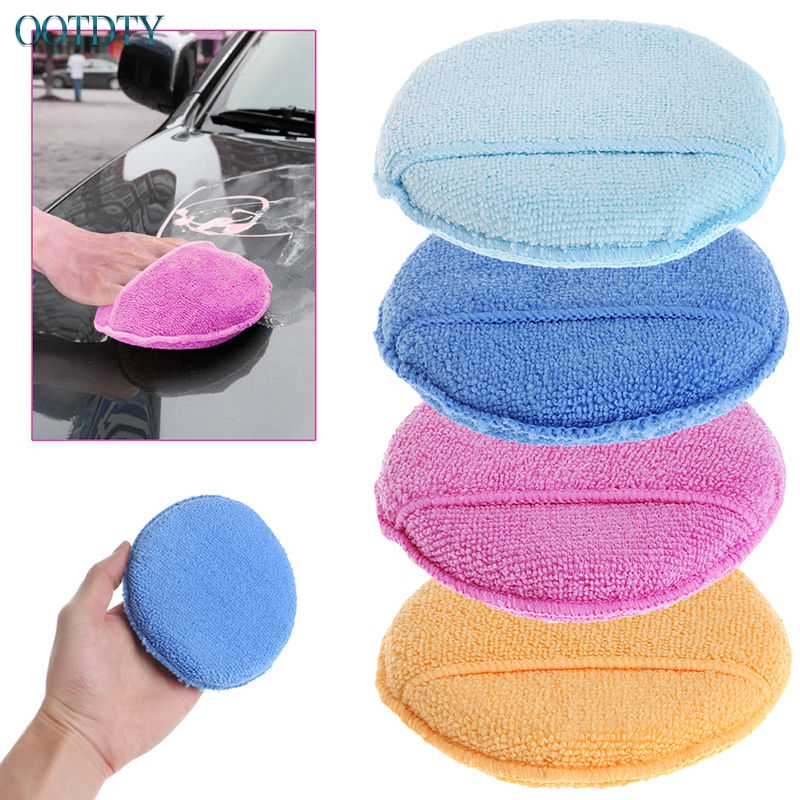 1PC Car Waxing Polish Microfiber Foam Sponge Applicator Cleaning Detailing Pads jul24