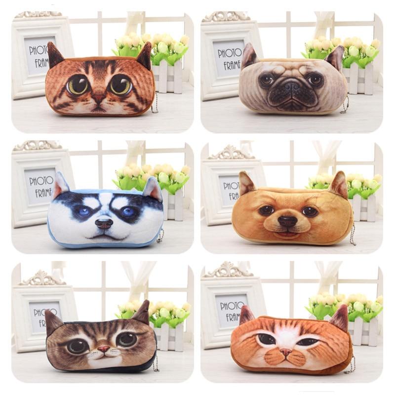 Cute Cartoon 3D New Plush Animal Pencil Case School Supplies Pencil Bag Coin Wallet Lapices School Supplies Pen Box For Girls