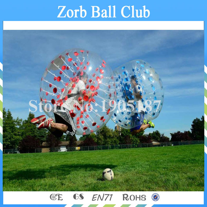 Free Shipping 2PCS 1.5m Size 1.0mm TPU Inflatable Bumper Ball, Inflatable Human Hamster Ball,Bubble Football,Bubble Soccer
