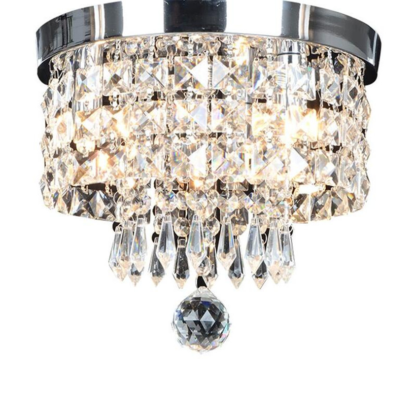 Modern Ceiling Lights Round Crystal Ceiling Lamp Led Lusters Luminaria For Balcony Entrance lamp Plafonnier Lighting Fixtures modern ceiling lights round crystal ceiling lamp led lusters luminaria for balcony entrance lamp plafonnier lighting fixtures