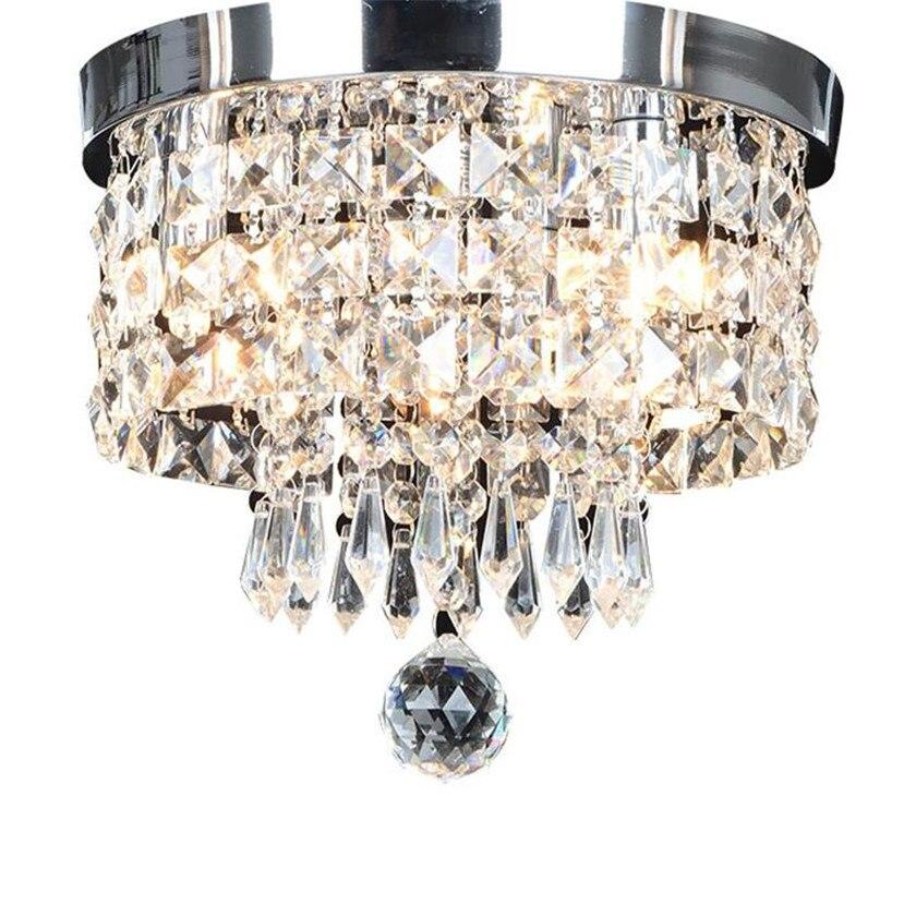 Moderne Decke Lichter Runde Kristall Decken Lampe Led Kronleuchter