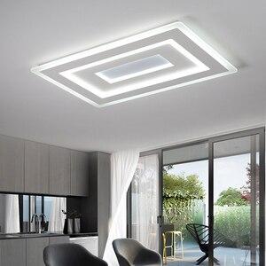 Image 5 - NEO זוהר דק משטח רכוב מודרני Led תקרת אורות lamparas דה techo מלבן אקריליק/כיכר תקרת מנורה גופי