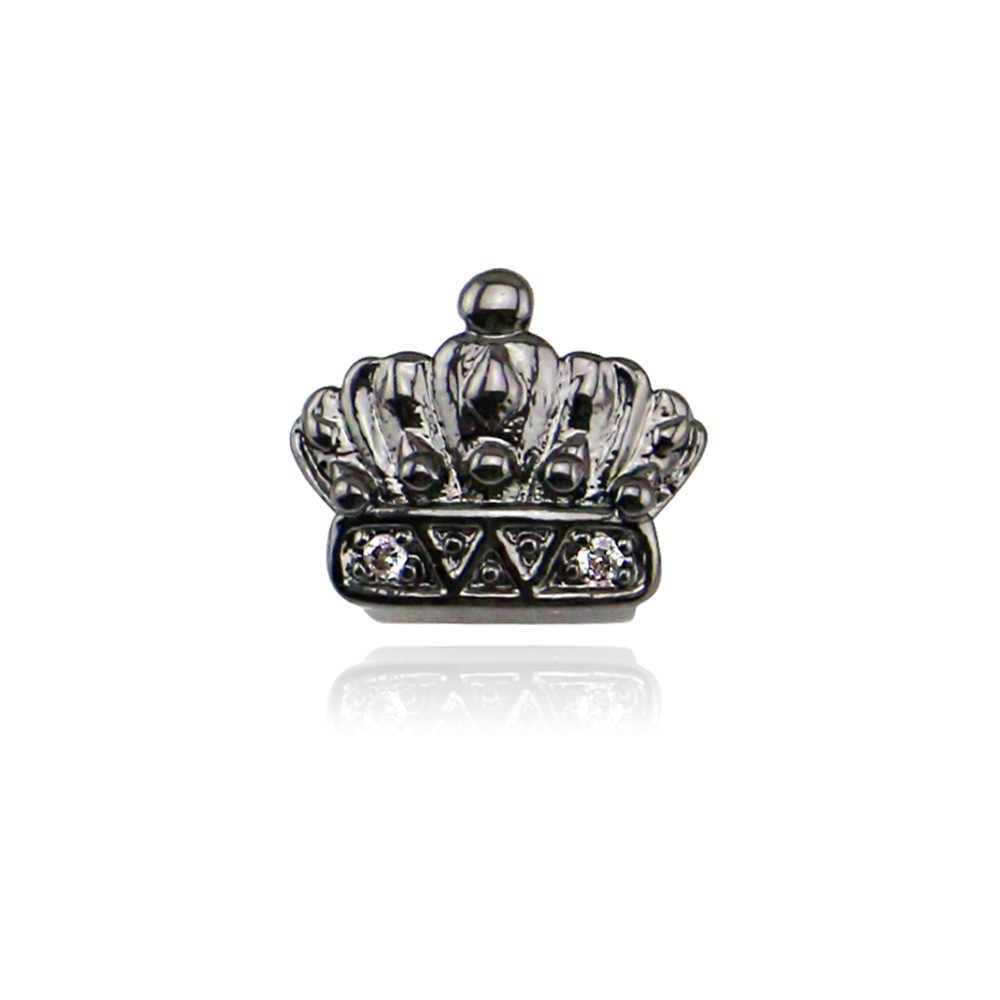 GANGSTA Gigi Emas Sliver Trendi Rock Rapper Hip Hop Cetakan Atas Bawah Grillz untuk Gigi Tubuh Perhiasan Gigi Tunggal bling Gigi