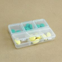 6 Hole Tablet Pill Box Holder Medicine Case Storage Organizer Container For Blindman