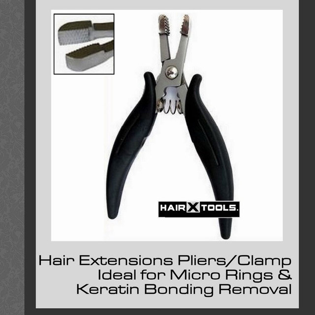 Black Handle Bond Keratin Removal Hair Pliers 1pc Heat Fusion Glue