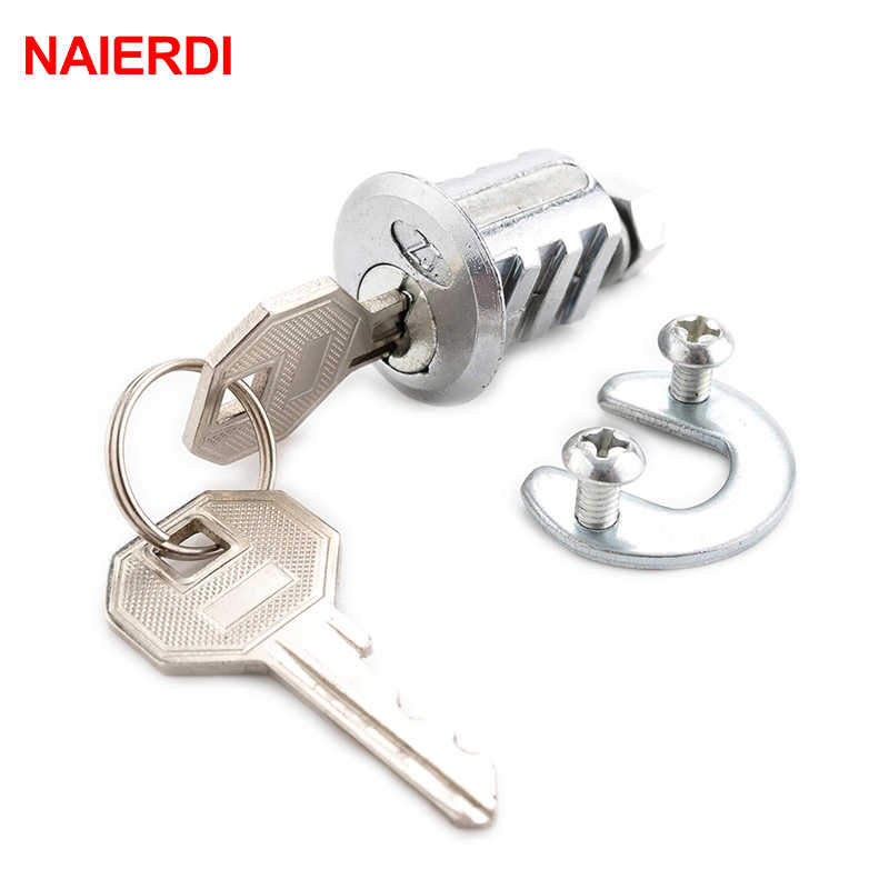 NAIERDI-103 Ribs Cam Lock Door Cabinet Special Mailbox Cupboard Home Locker 20mm Length Furniture Hardware With Iron Keys