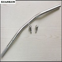 XUANKUN Cafe Racer Retro Motorcycle Modified Aluminum Alloy Ultra-Low Handlebar Direction To The