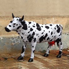 huge creative simulation cow toy polyethylene & furs new big cattle doll gift 100x65cm