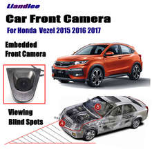 Liandlee For Honda  Vezel 2015 2016 2017 Car LCD Screen Monitor 4.3 Front View Camera Logo Embedded / Cigarette Lighter Switch