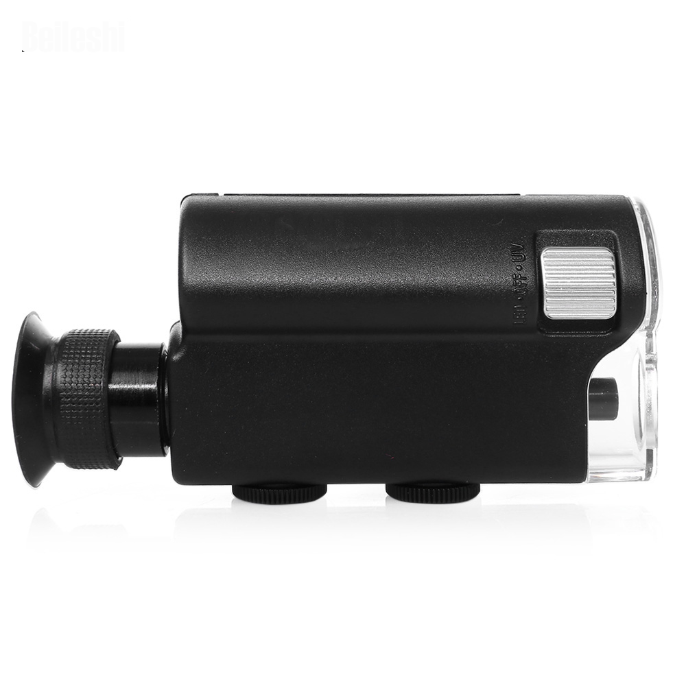 Hot Sell Mini Portable Microscope Pocket 140X~240X Handheld LED Lamp Light Loupe Zoom Magnifier Magnifying Glass Pocket Lens