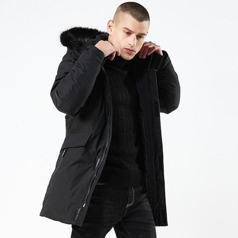 Abrigo de invierno para hombre rompevientos de piel con capucha chaqueta gruesa para hombre Streetwear Hiphop militar gabardina larga Parka jaqueta masculina-in Parkas from Ropa de hombre    2