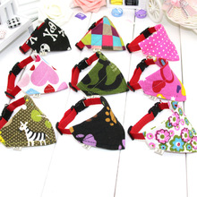 Lovely Adjustable Dog Cat Cotton Scarf Shawl Variety Of Patterns  Necklace Puppy Collar