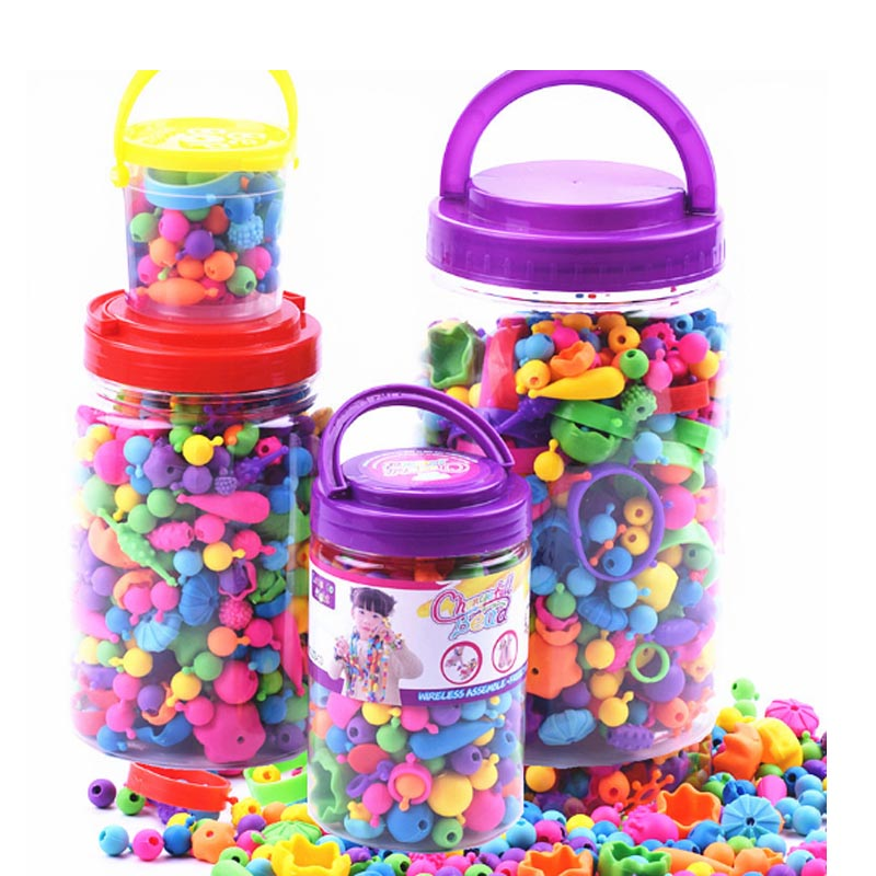 1000pcs/Set Pop Beads Toys Creativel Arts And Crafts For Girls Toy Bracelet Snap Together Jewelry Fashion Kit Educational Toy