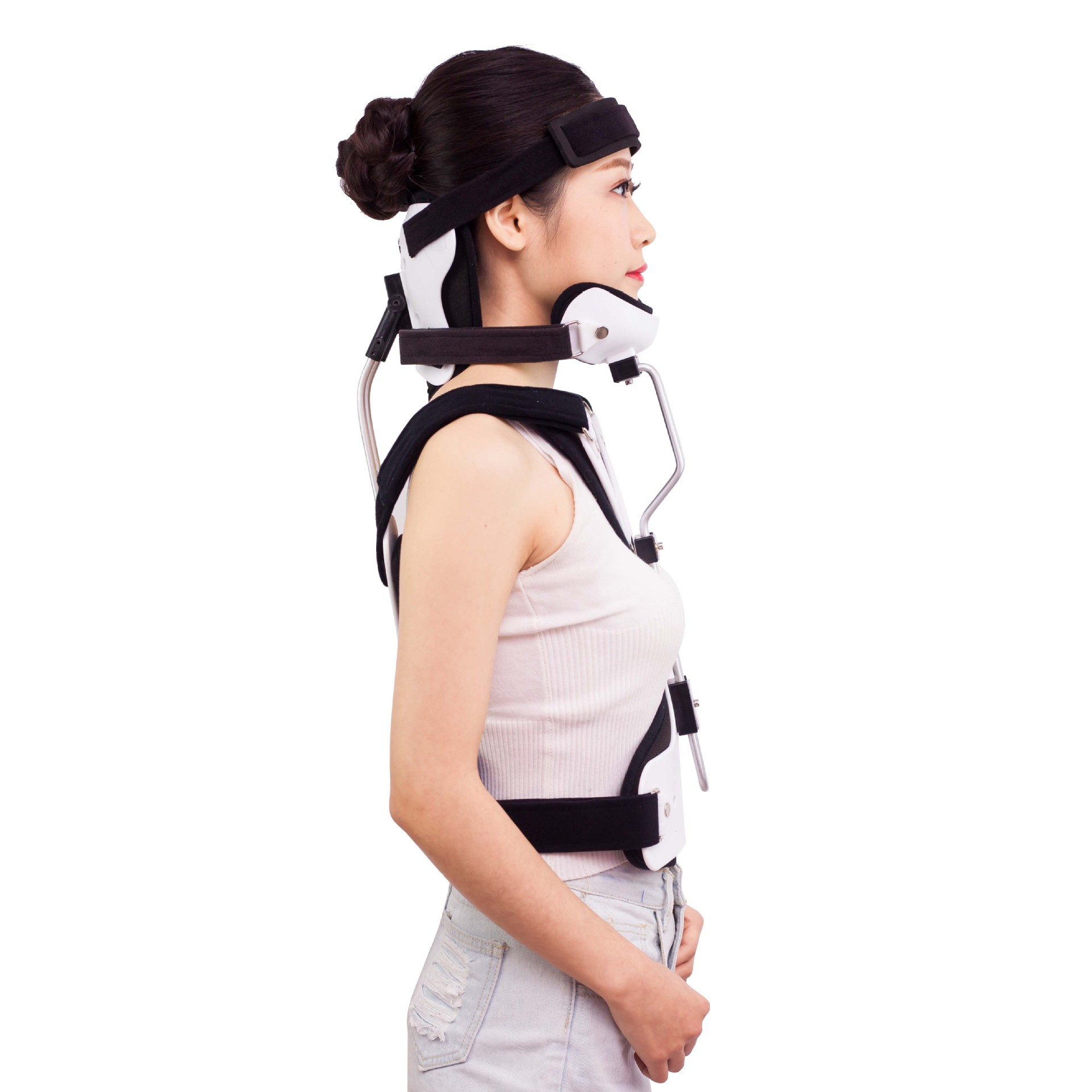 Medical orthosis Adult Head Neck Orthosis Surgery Thoracic Stent Fracture Fixation Rehabilitation Brace Cervical Traction(China)