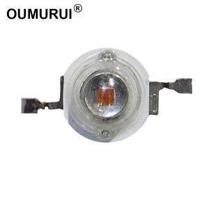 Image 1 - 3 W LED رقاقة عالية الطاقة LED حبيبات مصباح مستديرة متفاوتة الأحجام الأحمر 620 625nm 700mA 2 2.4 V 80 90LM 42mil AOC رقائق الشحن مجاني 100 قطعة