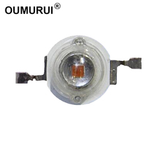 3W LED CHIP High power LED Lamp Beads Red 620 625nm 700mA 2 2.4V 80 90LM 42mil AOC Chips Free shipping 100pcs