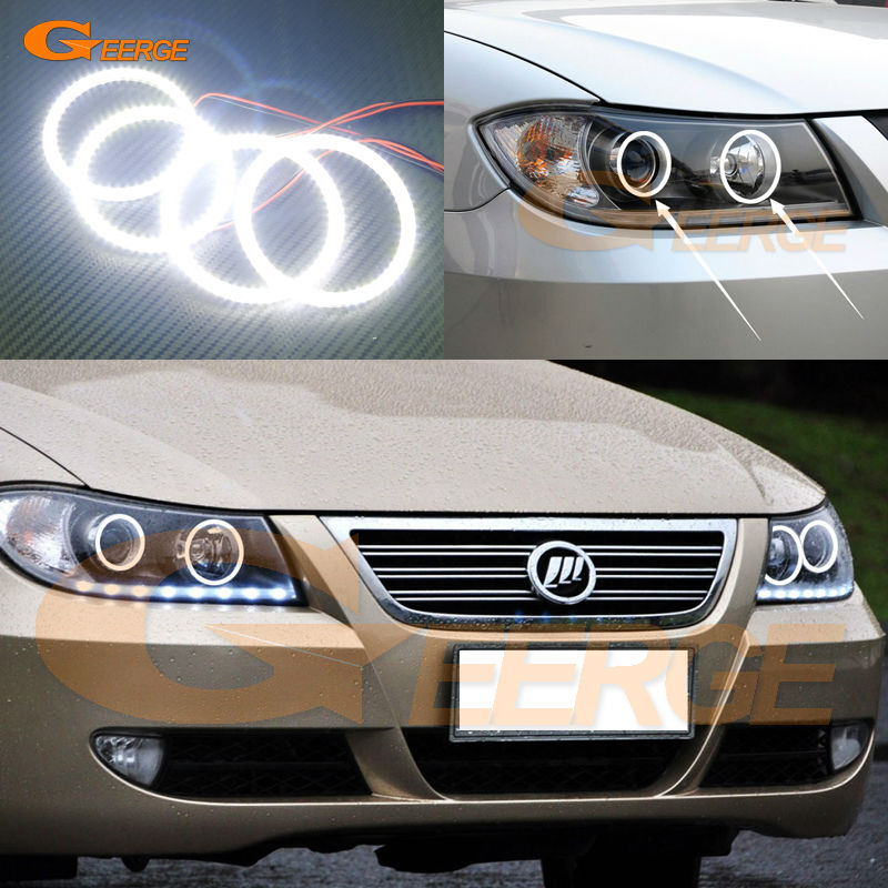 For Lifan 620 Solano 2008 2009 2010 2012 2013 2014 Excellent Ultra bright illumination smd led Angel Eyes Halo Ring kit датчик lifan auto lifan 2