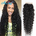 Raw Indian Lace Closure Kinky Curly Virgin Hair 4x4 Indian Deep Curly Virgin Hair Wet and Wavy Indian Lace Closure Curly Hair