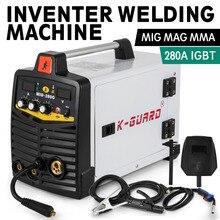 MIG 280A IGBT инвертор сварщик MIG & MMA 2 в 1 портативный сварочный аппарат