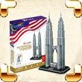 Новое поступление подарок Petronas towers-издания 3D головоломки модель строительство игрушек для взрослых образовательные игры DIY обучения научить инструмент украшения