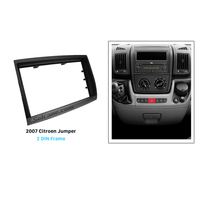 Seicane Black Double Din Car Radio Fascia for 2007 Citroen Jumper Dashboard CD Install Frame Trim Kit DVD Player