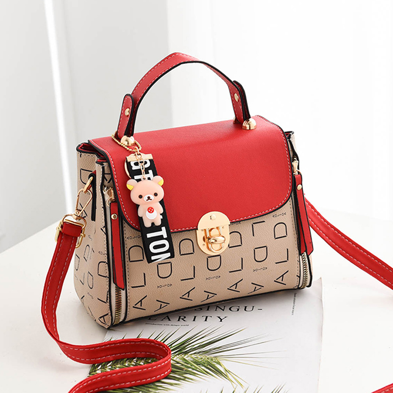 Popular Woman Handbags Fashion Leather Messenger Bag Trendy new one-shoulder diagonal small square bag Bolsa Feminina louis gg 44
