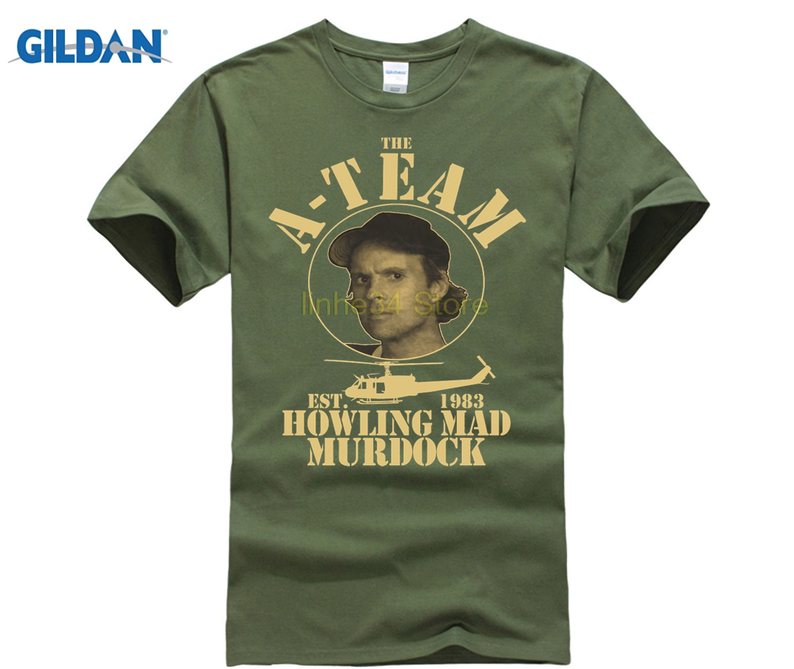 funny t shirts A-TEAM Murdock premium Men Casual T-Shirt FUN TV Serie Film Mr.T