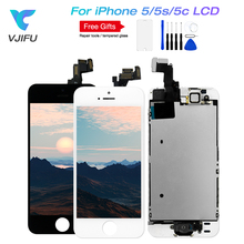 цены на AAA Quality Complete Touch LCD For iPhone 5 5S 5C Screen Display Digitizer Assembly with Front Camera with Earphone Home Button  в интернет-магазинах