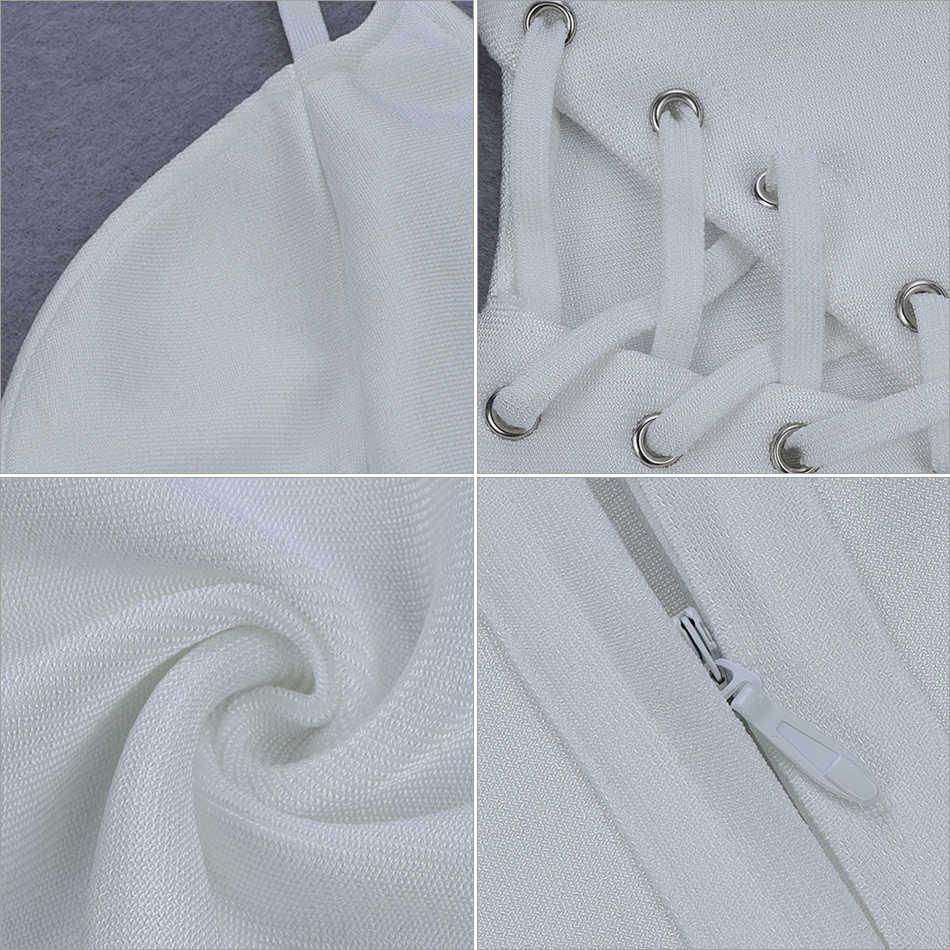 Seamyla 2019 nuevo verano vendaje vestido de las mujeres Sexy blanco ajustado celebridad vestido de fiesta de Split Club Vestidos