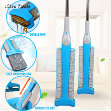 Wholesale Hot Sale Home Cleaning Tools Useful Double-Side Flat Mop Hands-Free Washable Mop Home Cleaning Tool Lazy Mop For Living Room