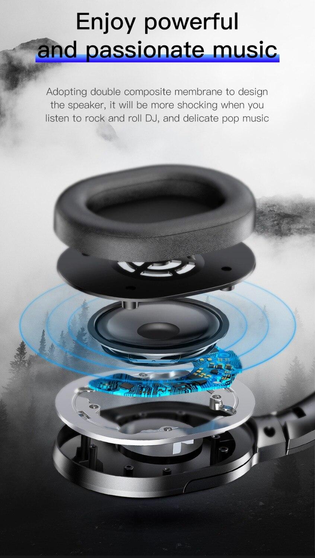 Baseus D02 casque sans fil Bluetooth 5.0 écouteur mains libres casque pour oreille tête téléphone iPhone Xiaomi Huawei écouteurs écouteur - 5